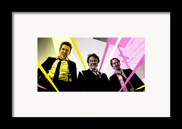 Digital Framed Print featuring the digital art Reservoir Dogs by Jeremy Scott