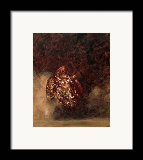 Rhino Framed Print featuring the painting Rhino Charger Heaven by Sarah Soward