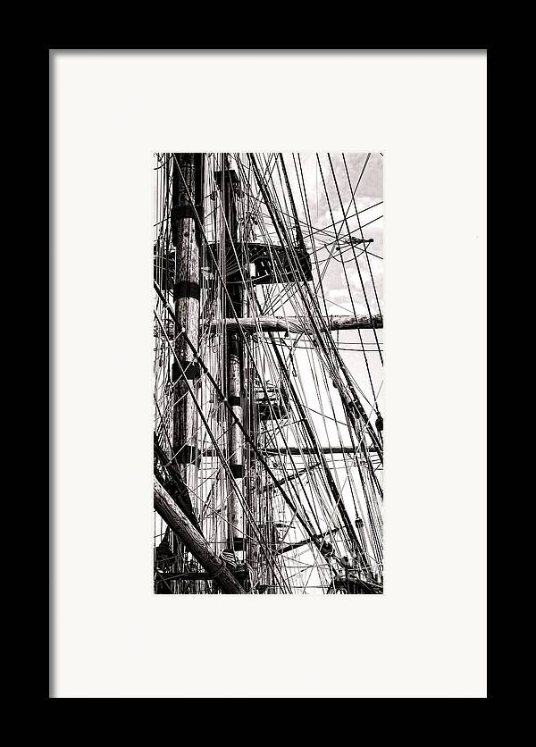 Sailing Framed Print featuring the photograph Rigging by Olivier Le Queinec
