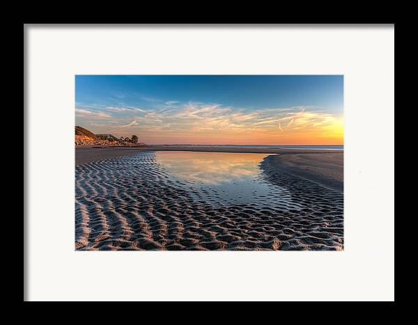 Clouds Framed Print featuring the photograph Ripples In The Sand by Debra and Dave Vanderlaan