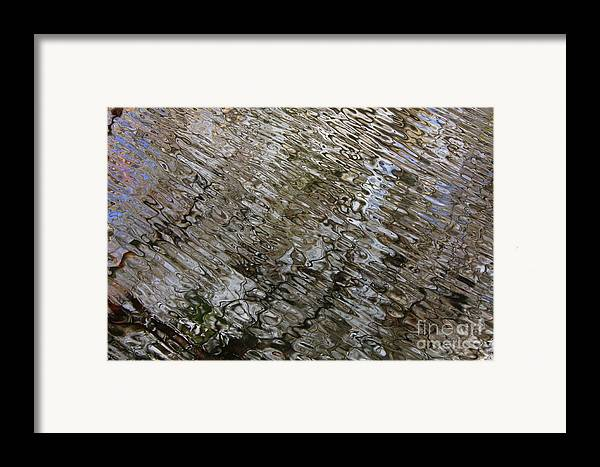 Nature Abstract Framed Print featuring the photograph Ripples In The Swamp by Carol Groenen