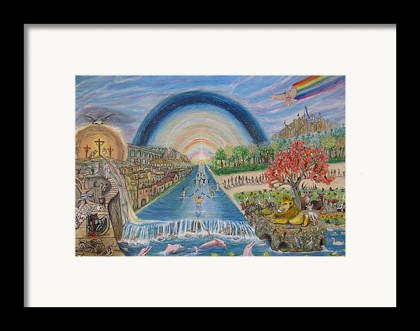 Christian Framed Print featuring the mixed media River Of Life by Neal David Reilly