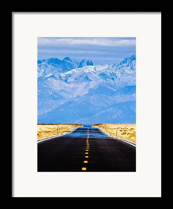 Mountains Framed Print featuring the photograph Road To The Mountains by Alexis Birkill