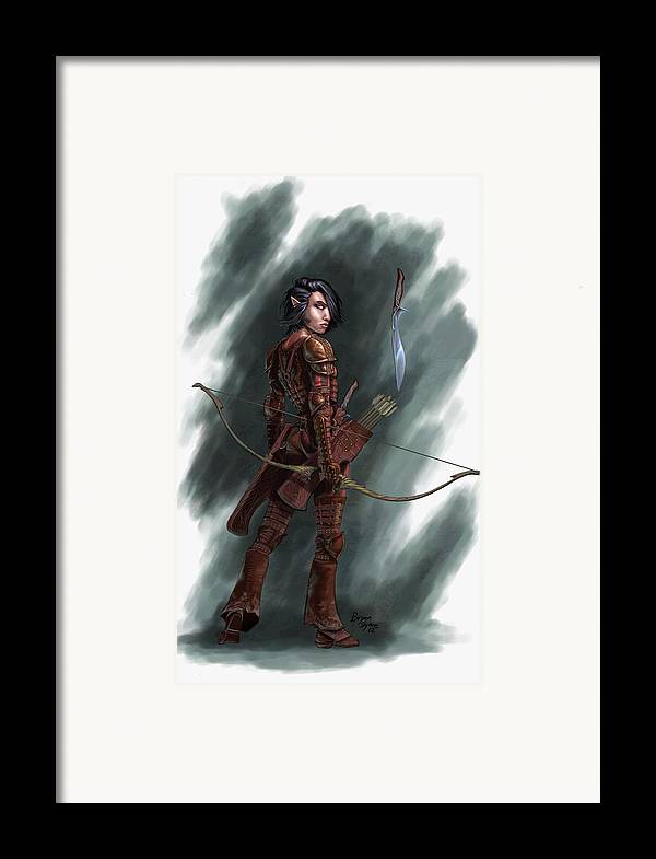 Archer Framed Print featuring the digital art Rogue by Bryan Syme