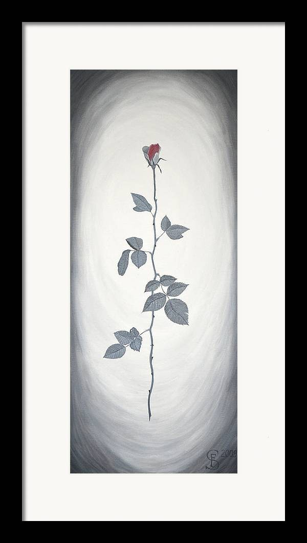 Rose Framed Print featuring the painting Rose by Sven Fischer