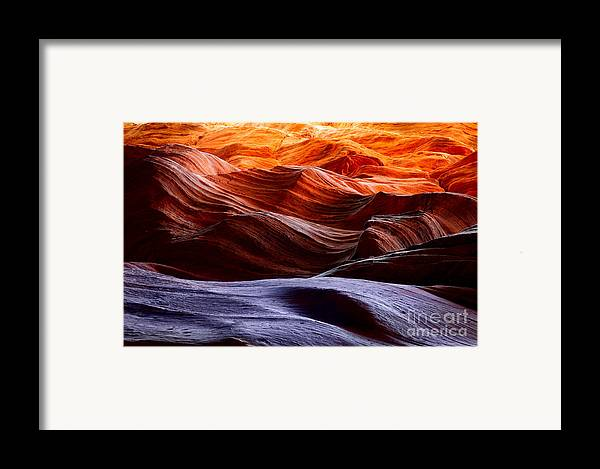 America Framed Print featuring the photograph Rough Sea by Inge Johnsson
