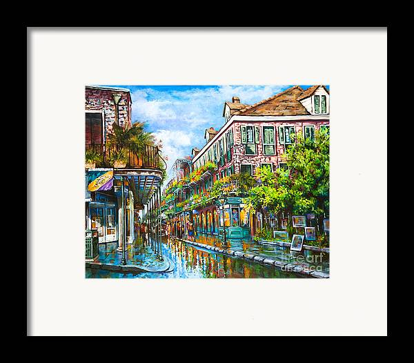 New Orleans Art Framed Print featuring the painting Royal At Pere Antoine Alley by Dianne Parks