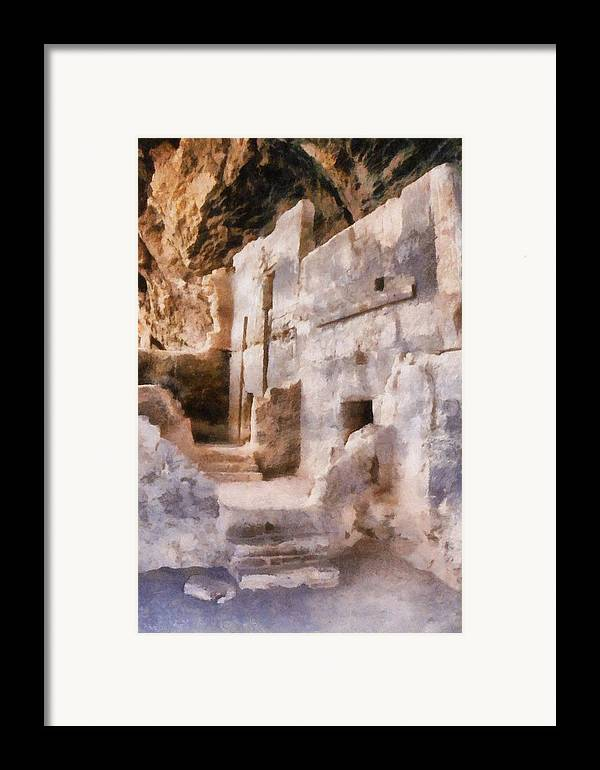 Indian Framed Print featuring the photograph Ruins by Michelle Calkins