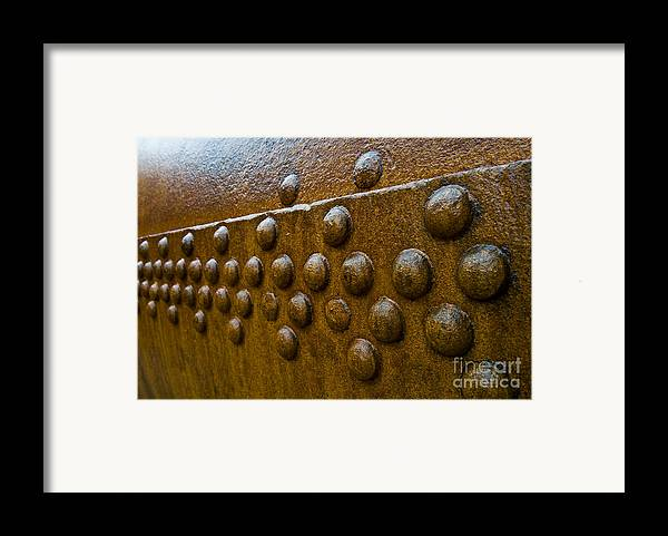 Rivet Framed Print featuring the photograph Rusted Whaling Machinery by John Shaw