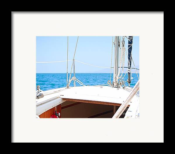 Sailboat Framed Print featuring the photograph Sailing On A Fine Sunny Day by Artist and Photographer Laura Wrede