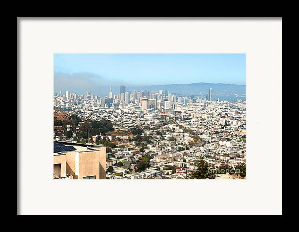 Framed Print featuring the photograph San Francisco City Vista by Artist and Photographer Laura Wrede