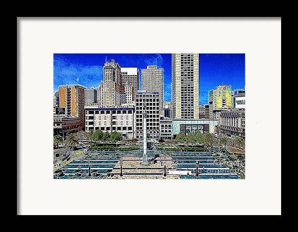 San Francisco Framed Print featuring the photograph San Francisco Union Square 5d17938 Artwork by Wingsdomain Art and Photography