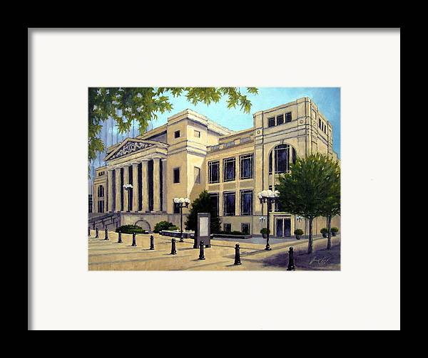 Nashville Framed Print featuring the painting Schermerhorn Symphony Center by Janet King