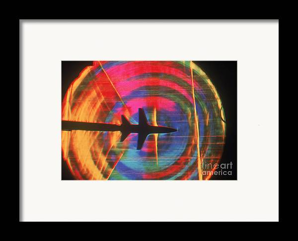 Shock Wave Framed Print featuring the photograph Schlieren Image Of Aircraft by Garry Settles