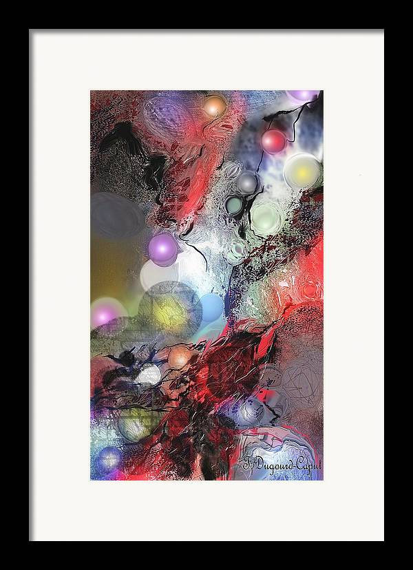 Abstract Framed Print featuring the painting Sci-fi by Francoise Dugourd-Caput