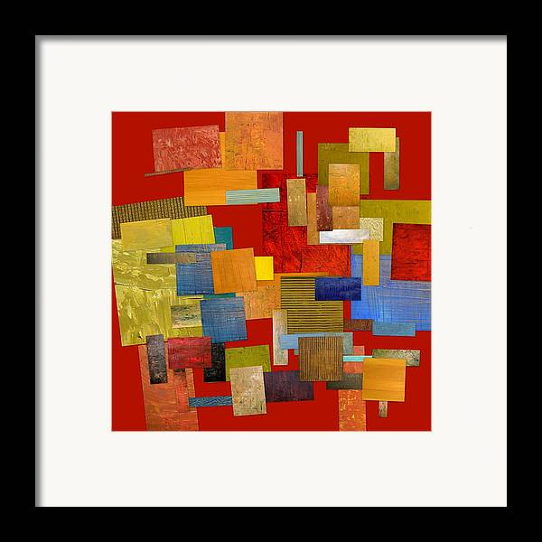 Textural Framed Print featuring the painting Scrambled Eggs L by Michelle Calkins