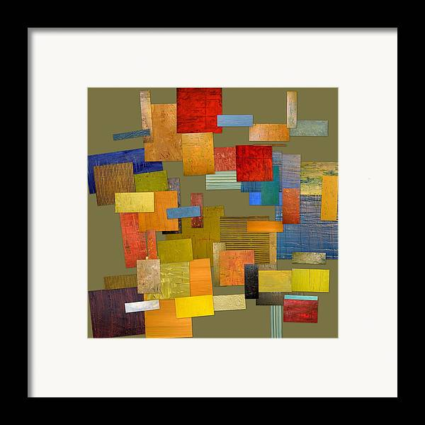 Textural Framed Print featuring the painting Scrambled Eggs Ll by Michelle Calkins