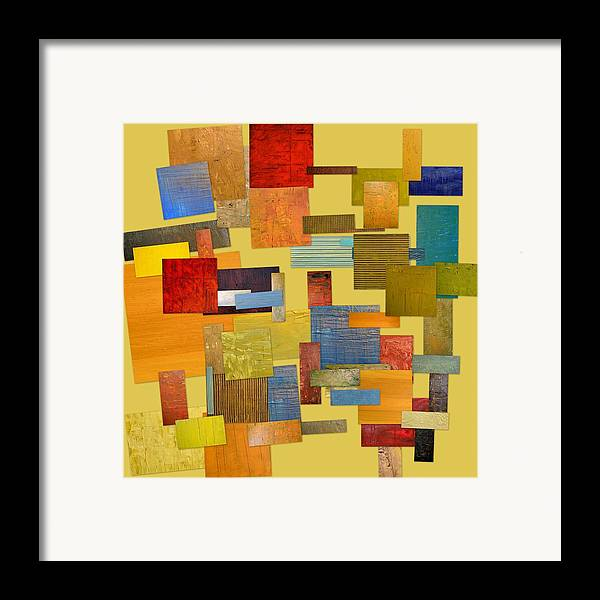 Textural Framed Print featuring the painting Scrambled Eggs Lll by Michelle Calkins