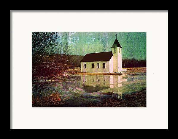 Church Framed Print featuring the photograph Secluded Sanctum by Shirley Sirois