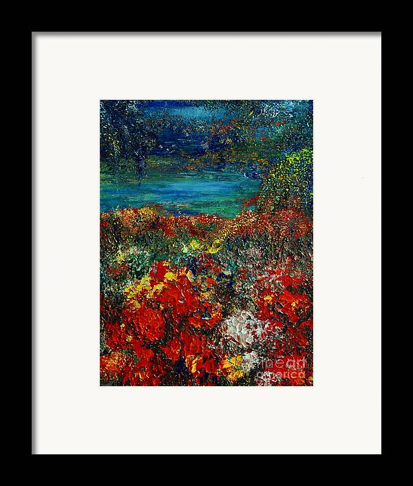 Garden Framed Print featuring the painting Secret Garden by Teresa Wegrzyn