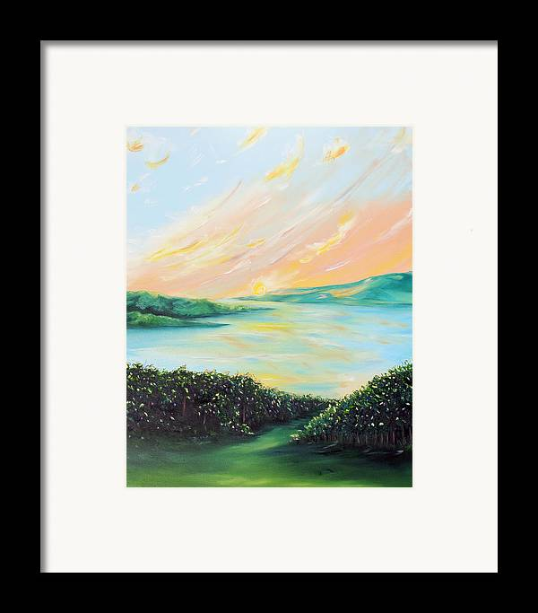 Lake Framed Print featuring the painting Seeded Spirit by Meaghan Troup