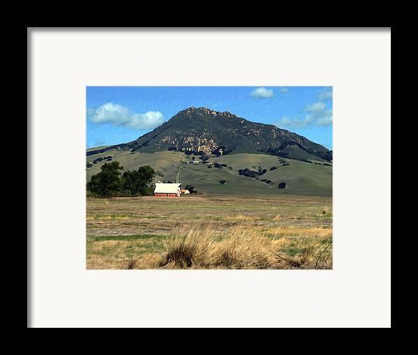 Bishops Peak Framed Print featuring the photograph Serenity Under Bishops Peak by Kurt Van Wagner
