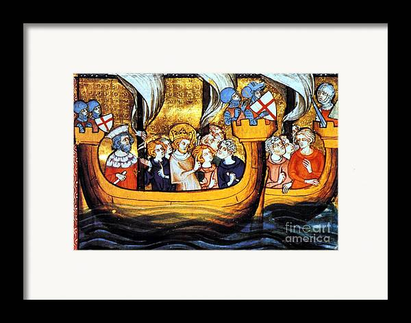 Navigation Framed Print featuring the photograph Seventh Crusade 13th Century by Photo Researchers