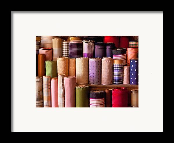Sew Framed Print featuring the photograph Sewing - Fabric by Mike Savad