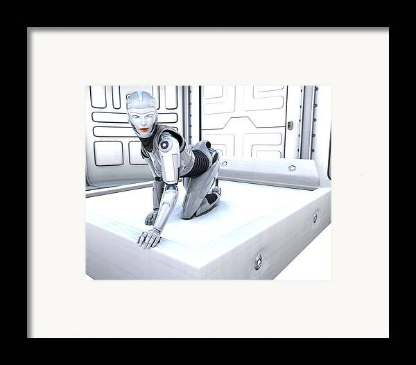Sci Fi Framed Print featuring the digital art Sexy Machine V1 by Frederico Borges