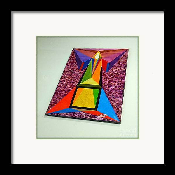 Spirituality Framed Print featuring the painting Shot Shift - Liberte 2 by Michael Bellon