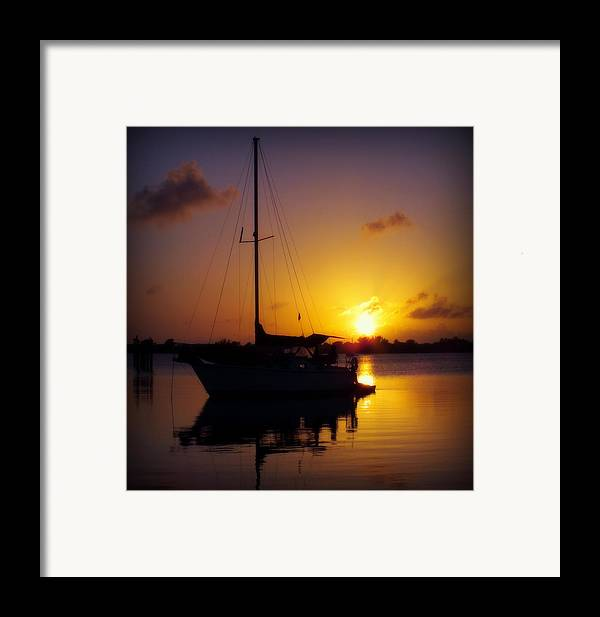 Sailboats Framed Print featuring the photograph Silence Of Night by Karen Wiles