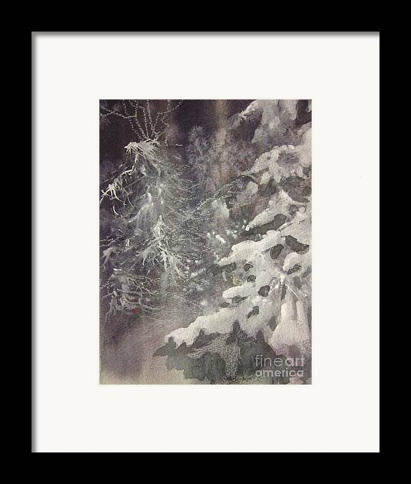 Snow Framed Print featuring the painting Silent Night by Elizabeth Carr