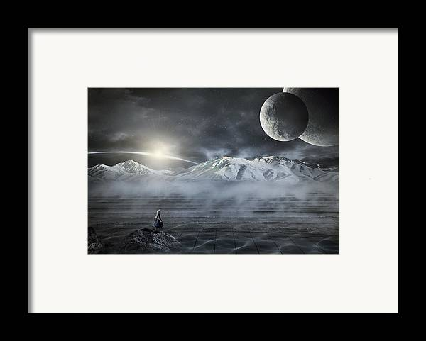 Abstract Framed Print featuring the digital art Silent Rise by Svetlana Sewell