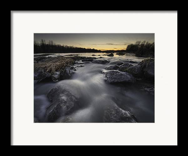 Landscapes Framed Print featuring the photograph Silky River by Davorin Mance
