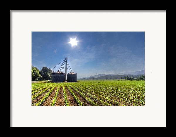 Andrews Framed Print featuring the photograph Silos by Debra and Dave Vanderlaan