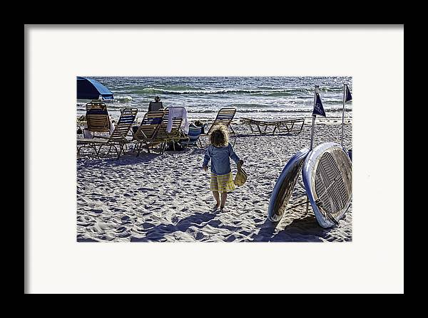 Summer Framed Print featuring the photograph Simpler Times 2 - Miami Beach - Florida by Madeline Ellis