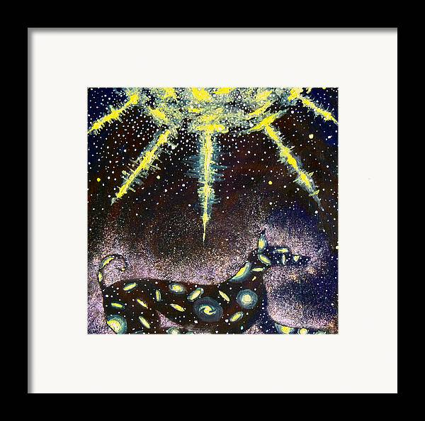 Dog Framed Print featuring the painting Sirius Listening by Dennis Goodbee