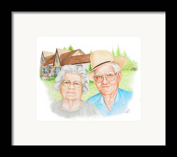 Portrait Framed Print featuring the drawing Smith Commission by Mike Ivey