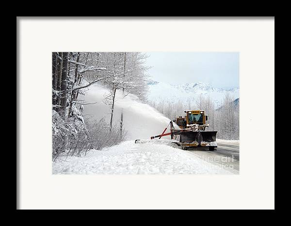 Transportation Framed Print featuring the photograph Snow Plow by Mark Newman