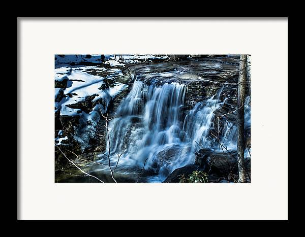 Waterfall Framed Print featuring the photograph Snowy Waterfall by Jahred Allen