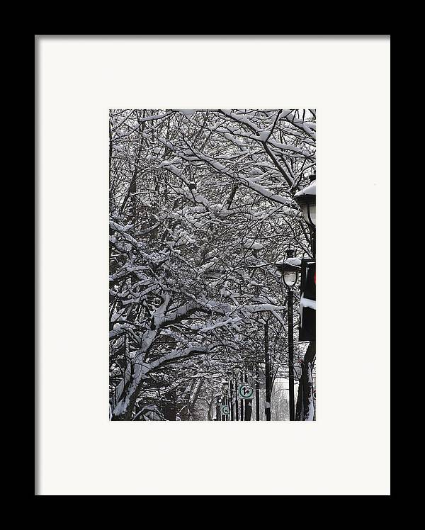 Snow Framed Print featuring the photograph Snowy Way by Frederico Borges