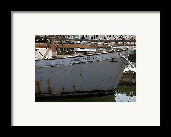 Boats Framed Print featuring the photograph S.o. Wanderlust by Amanda Barcon