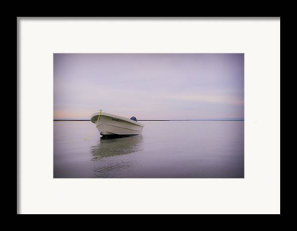3scape Photos Framed Print featuring the photograph Solitary Boat by Adam Romanowicz