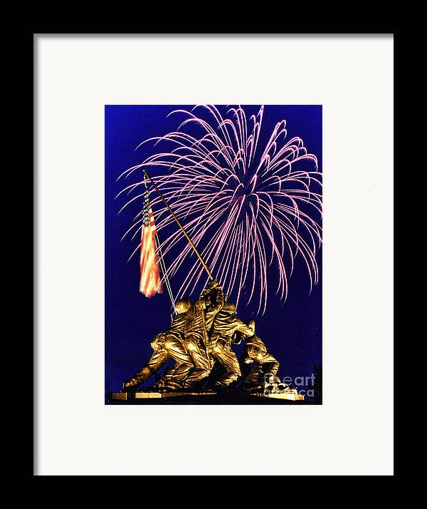 United States Marine Corps Framed Print featuring the photograph Some Gave All by Scott Hansen