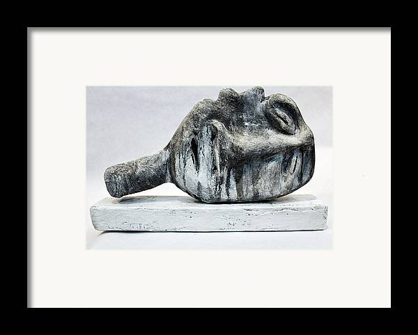 Bust Framed Print featuring the sculpture Somnio No. 1 by Mark M Mellon