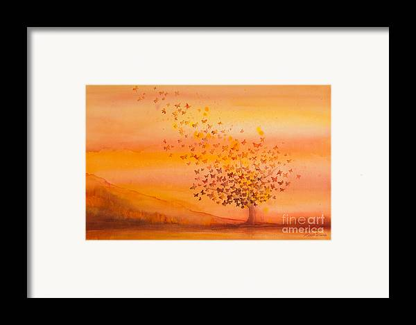 Butterfly Framed Print featuring the painting Soul Freedom Watercolor Painting by Michelle Wiarda