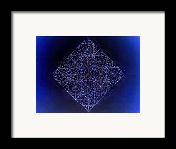 Fractal Framed Print featuring the drawing Space Time Sine Cosine And Tangent Waves by Jason Padgett