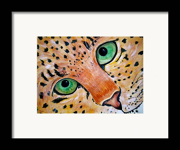 Spotted Framed Print featuring the painting Spotted by Debi Starr