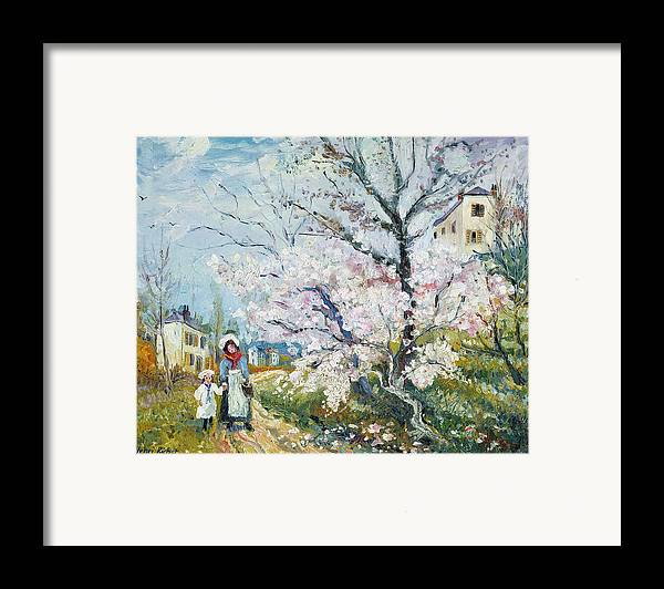 Garden Framed Print featuring the painting Spring Blossom by Henri Richet