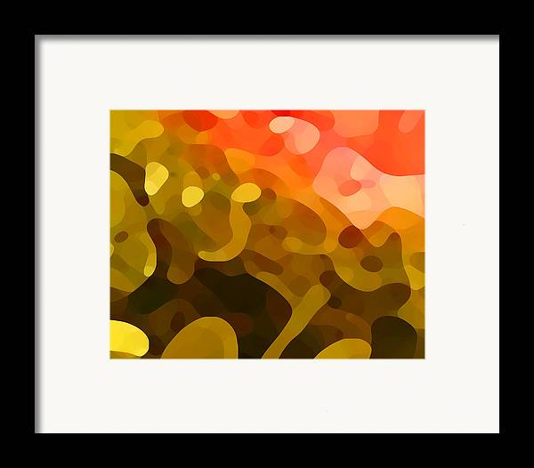 Abstract Framed Print featuring the painting Spring Day by Amy Vangsgard
